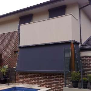fixed guide outdoor awning blind melbourne