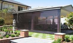 tinted pvc bistro blinds melbourne